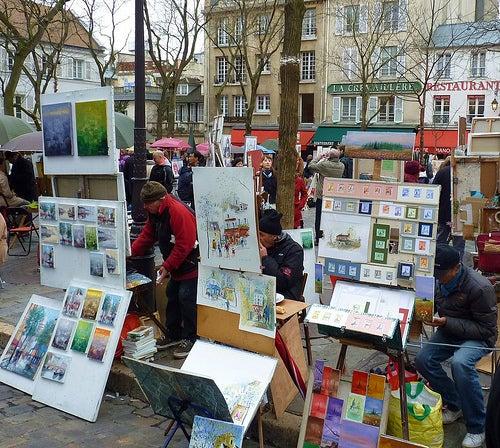pintores barrio de montmartre