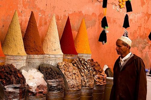 puesto de especias zoco marrakech