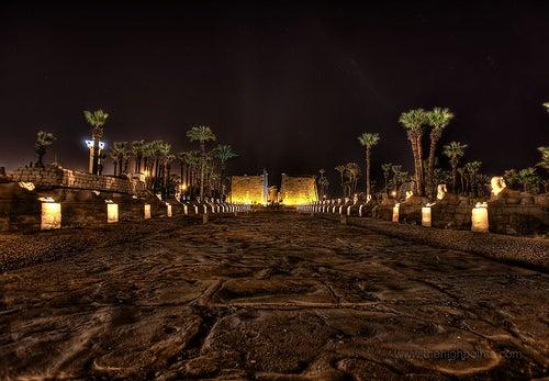 avenida de las esfingies templo luxor
