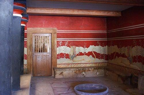 interior palacio knosos