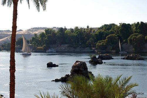 nilo en asuan egipto