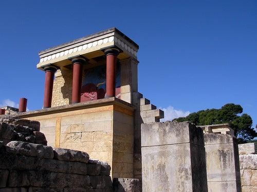 El palacio de Knossos, el hogar del Minotauro