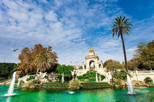Paseando por algunos parques de Barcelona
