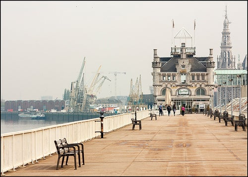 puerto de la ciudad de amberes
