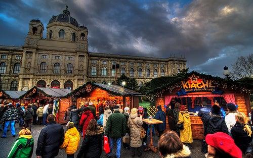 Theresien Platz mercadillos navideños de viena