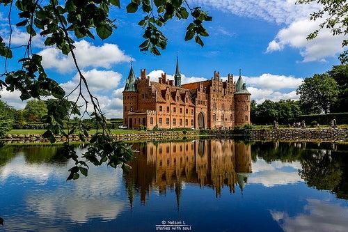 Castillo de Egeskov, una maravillosa construcción sobre el agua