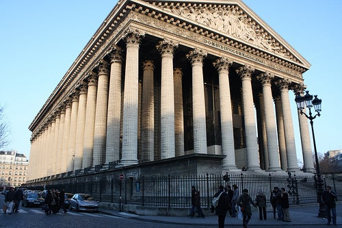 Iglesia de la Madeleine, un templo griego en París