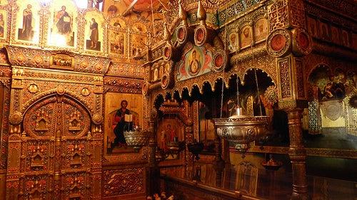 interior catedral de san basilio en moscu 2