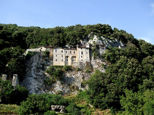 santuario de greccio en italia