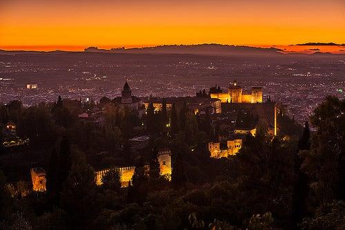 puesta de sol alhambra