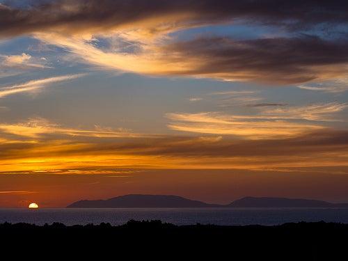 puesta de sol cabo finisterre