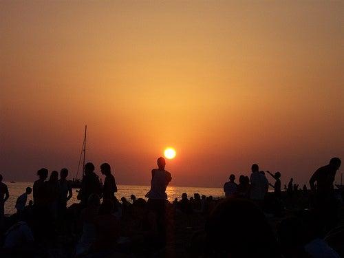 puesta de sol cafe del mar ibiza