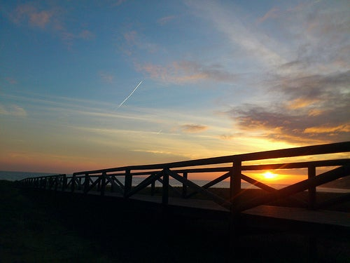 puesta de sol zahara de los atunes