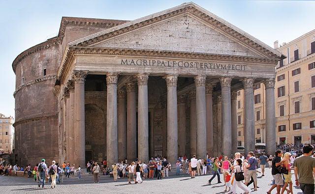 Panteón de Agripa en Roma, un monumento sublime