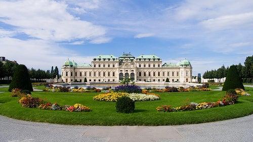 El magnífico palacio barroco Belvedere en Viena