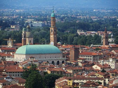 La ciudad de Vicenza en Italia, la ciudad monumental de Palladio