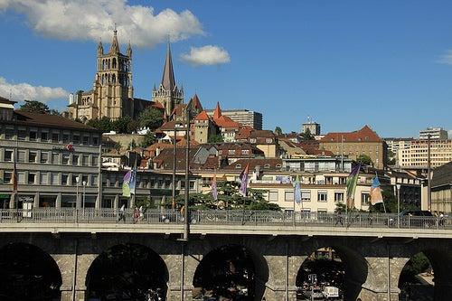 La exquisita ciudad de Lausana en Suiza