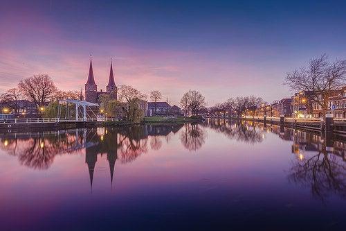 La bella ciudad de Delft, la Venecia de Holanda