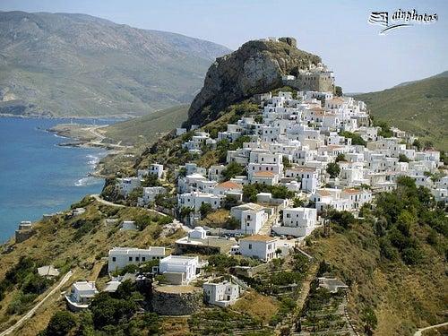 La bella isla griega de Skyros, el lugar donde Aquiles se vistió de mujer