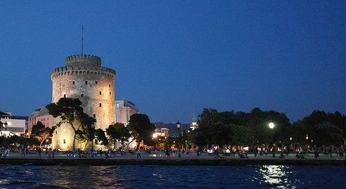 La imponente Torre Blanca, emblema de la ciudad griega de Salónica.