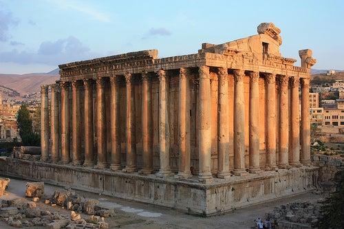 Los Antiguos Templos de Baalbek en Líbano
