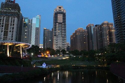 De paseo por la ciudad de Taichung en Taiwán