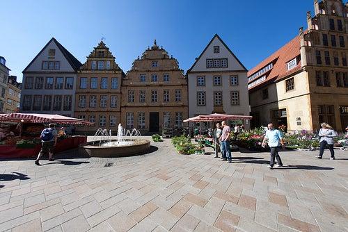 Alter Markt in Bielefeld / Markttreiben