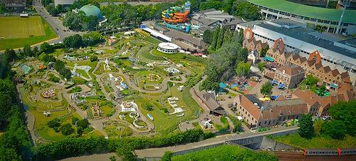 El parque Mini Europe, representación de los mejores lugares de ese continente