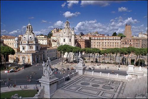 La piazza Venezia, uno de loslugares más emblemáticos de Roma
