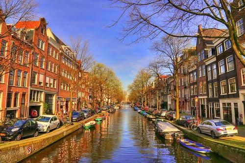 Disfrutando de la belleza de los barrios de Amsterdam