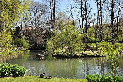 jardín de la Villa Belgiojoso Bonaparte 2