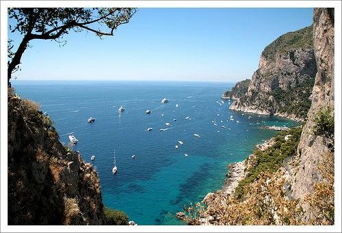 La playa Marina Piccola, una de las más bonitas de Italia