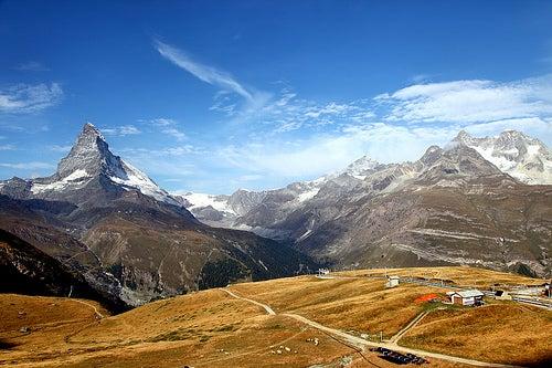 Maravillados con algunas de las montañas de Suiza