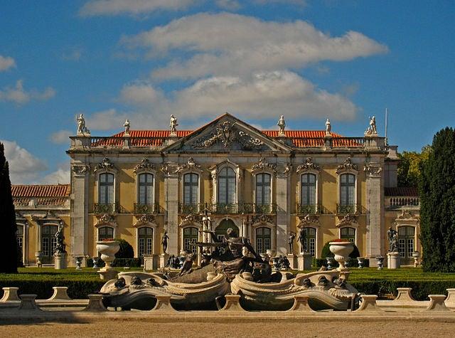 """El bello Palacio de Queluz, """"el Versalles de Portugal"""""""