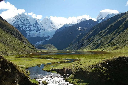 El senderismo a la Cordillera Huayhuash en Perú