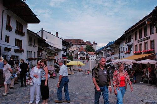La exquisita ciudad de Gruyères en Suiza