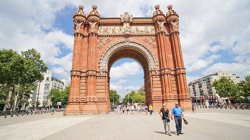 Uno de los emblemas de Barcelona, su espectacular Arco del Triunfo