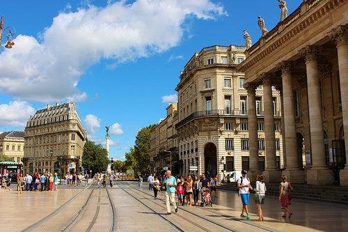 La delicia de Burdeos en Francia