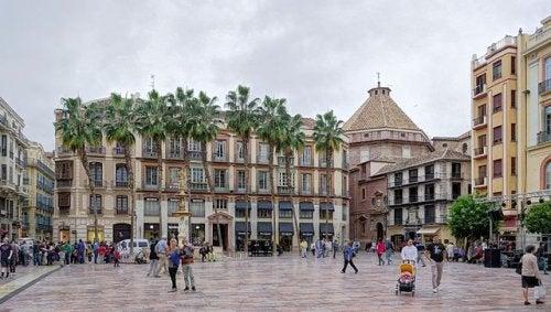 La Plaza de la Constitución de Málaga, una de las más antiguas de España