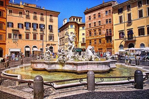 Visitamos la Plaza Navona, una de las más famosas de Roma