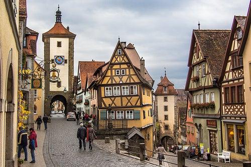 La hermosa ciudad de Rothenburg ob der Tauber