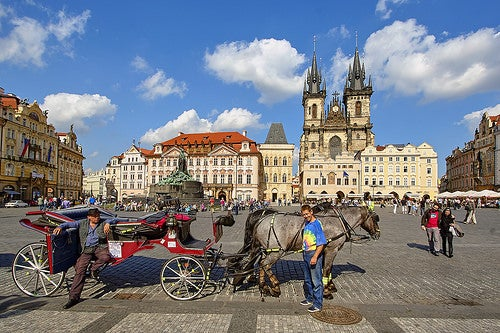 Plaza del casco antiguo de praga
